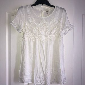 Boutique white lace top